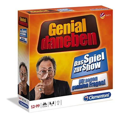 Clementoni 59094 Genial Daneben, Brettspiel für 2 bis 6 Spieler, lustiges Familien- & Gesellschaftsspiel, Frage-Antwort Spiel, nach der gleichnamigen TV-Show