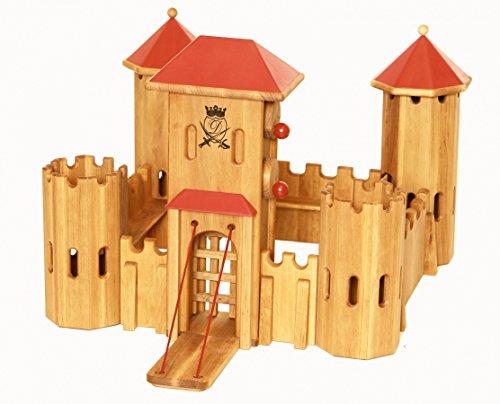 Unbekannt 931 0220 Drewart Ritterburg aus Holz, EIN ökologisches Holzspielzeug der Extraklasse ...