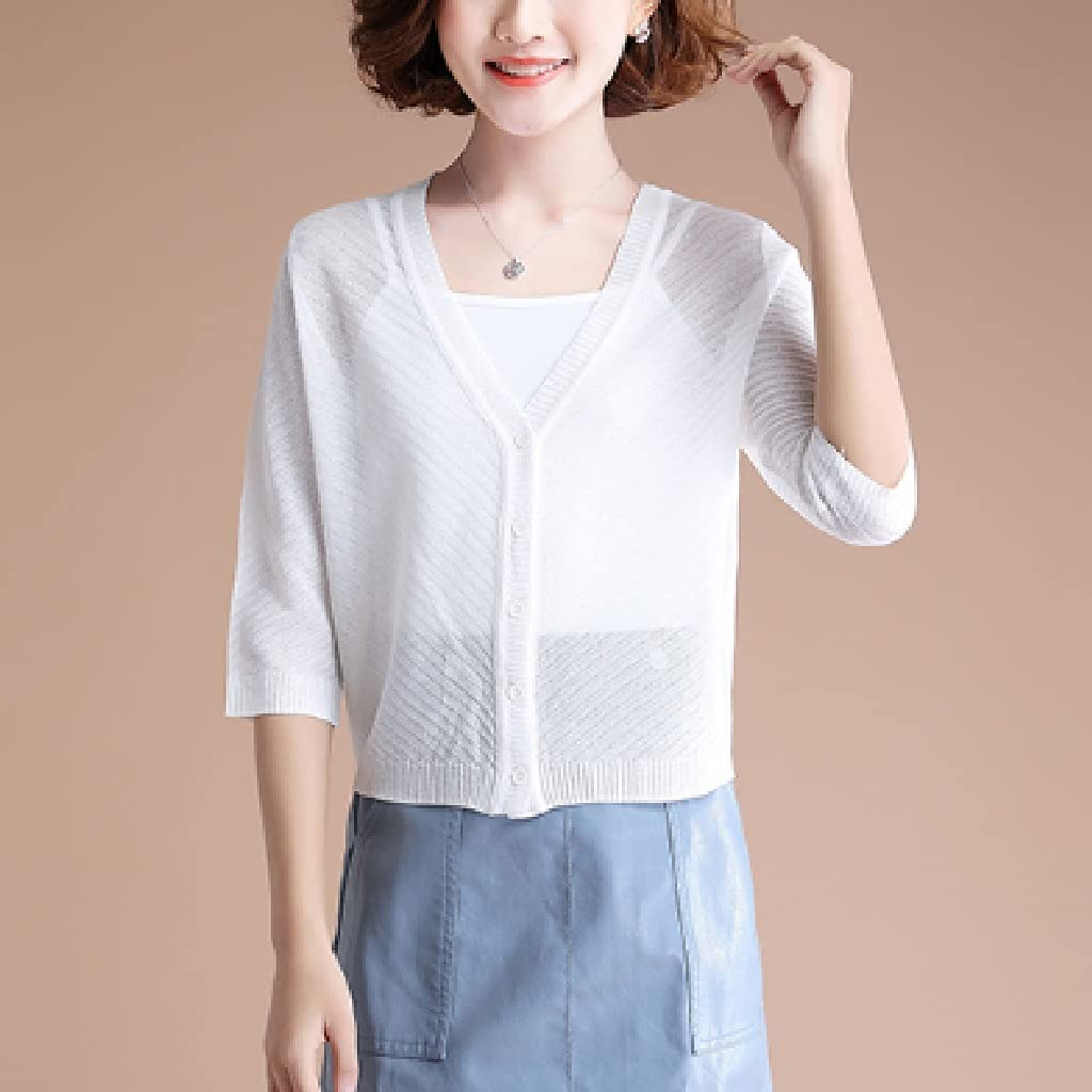 PDGJG Women's Summer Short Outer Sun Max 49% OFF Cardiga Protection Clothing Nippon regular agency