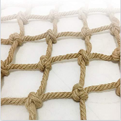 Seguridad Niños Escalada Red De Protección De Cuerda De Cáñamo, 2 × 5m Barandas De Escalera Valla Barrera Ingeniería Ingeniería Trabajador De Protección Uso Multipropósito Malla Protectora Balcon Exte