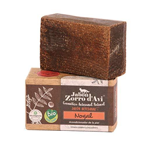 Jabón Zorro D'Avi Jabón Natural Ecológico de Nogal Pieles Sensibles y Delicada - 120 grs