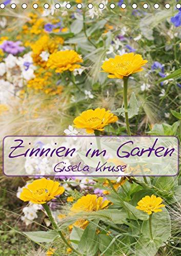 Zinnien im Garten (Tischkalender 2021 DIN A5 hoch)