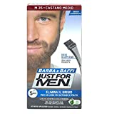 JUST FOR MEN BARBA E BAFFI COLORE PERMANENTE CON PENNELLO SENZA AMMONIACA CASTANO MEDIO M-35 2X 14 ML