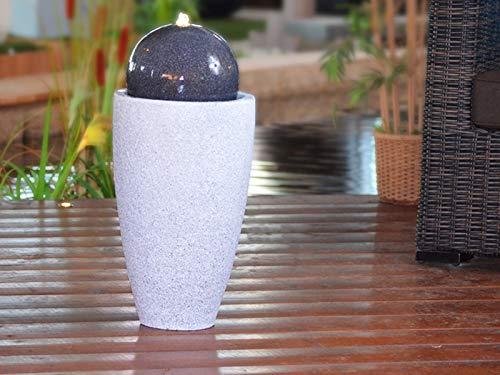 Heissner Gartenbrunnen Mocca LED
