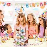 MengH-SHOP Tortenständer 3 Etagen Cupcake Ständer Einhorn Muffin Ständer aus Karton für Hochzeit Party Geburtstag Baby Duschen Kuchen Dessert Torten Etagere - 3