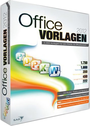 Office Vorlagen 2012 [import allemand]