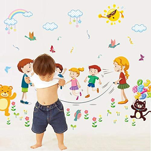 Cartoon wandaufkleber kinderzimmer glücklich wohnzimmer dekoration abnehmbare klassenzimmer PVC wand stickers60 * 90 cm