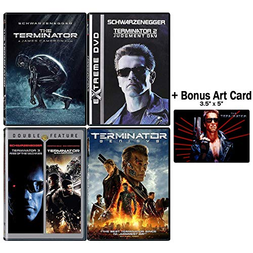 Terminator: Complete Movie Series DVD Collection - 5 Films (The Terminator / Judgement Day / Rise of the Machines / Salvation / Genisys) + Bonus