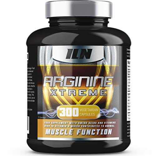 Iron Labs Nutrition, Arginine Xtreme XXL - 2,600mg x 75 Servings - L-Arginine supplement with Vitamin D for normal Muscle Function - 300 Capsules