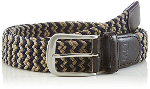 MLT Belts & Accessoires Cinturón Bali Hombre, Multicolor (navy taupe 1028), 115 cm (Talla del fabricante: 115 cm)