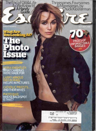 KEIRA KNIGHTLEY SEXY TOPLESS ESQUIRE MAGAZINE OCTOBER 2005!