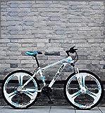 QZ 26 Pulgadas de Bicicletas de montaña, Doble Freno de Disco Trek Bicicletas, Marco de aleación de Aluminio/Ruedas, Playa de Motos de Nieve de Bicicletas de 27 velocidades