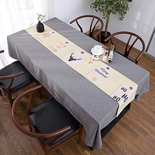 Nappe de Meuble TV, Lin en Coton Bei, Nappe de Table Basse, Housse de Meuble TV Anti-poussière(; 30 * 180cm)