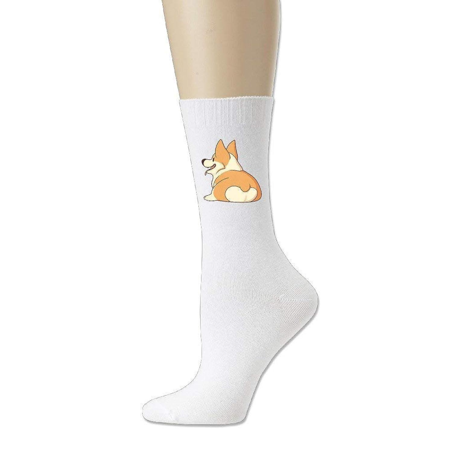 LELE Corgi Butt Comfort Cotton Athletic Ankle High Socks Unisex Youth Adult Girl Boy Women Men