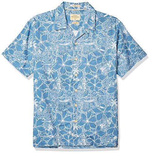 Quiksilver Herren Woven Button Down Hemd, Blue Shadow Big Swell, X-Groß