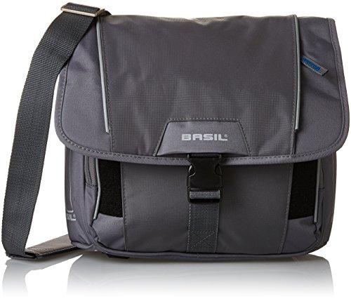 Basil Unisex– Erwachsene Lenkertasche Sport Design-Front Bag, Grey, 30 cm x 13 cm x 29 cm