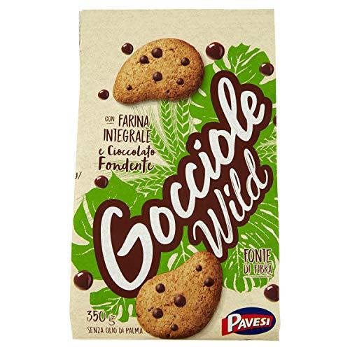 Pavesi Biscotti Gocciole Cioccolato Wild Integrali, Biscotti da Colazione - 350 gr