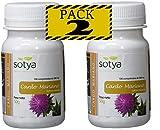 SotyaBelsan Cardo Mariano 500 mg 200 comprimido(2 botes de 100) extracto seco Silimarina 80%+30% Silibina, depurativo limpiador y desintoxicante natural para el hígado. Ayuda digestión de las grasas