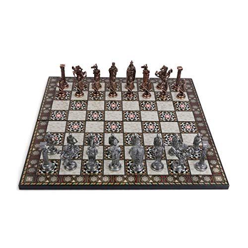 GiftHome Royal Medieval British Army - Juego de ajedrez de c
