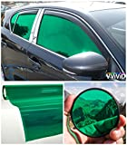 VViViD Colorful Transparent Vinyl Car Window Tinting 30 Inch x 60 Inch 2 Roll Pack (Green)