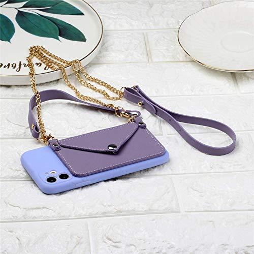 NUEVO Estuche para teléfono con billeteras con cordón de silicona para iPhone 11 Pro Max SE 2020 X XR XS Max 6 6s 7 8 Plus 12 Carcasa del soporte de la correa de la tarjeta