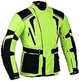Gearx Verde Moto Chaqueta Alto Visible Resistente al Agua y Reflectante