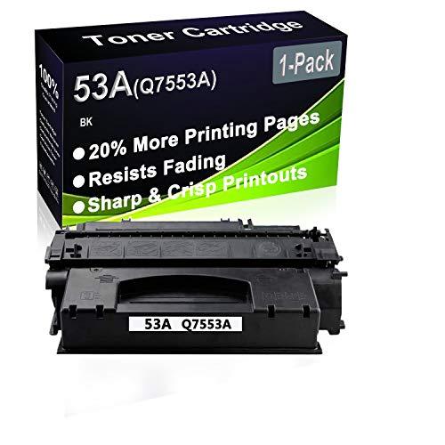 Cartucho de impresora láser de alta capacidad para HP 53A (Q7553A), color negro, compatible con LaserJet M2727NF M2727NFS P2014 P2015N, P2015X, color negro