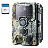 "Crenova Trail Camera with 32GB SD Card 20MP 1080P IP66 Waterproof Night Vision Game Hunting Cam for Wildlife Scouting Monitoring with 47pcs 940nm No Glow LED 120° 65 ft Detection Range 2.4"" LCD"