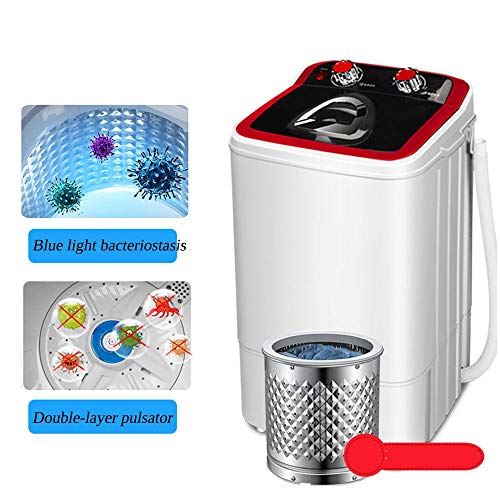 MQQ Portable Washing Machine,Compact Washer and Spin Dryer,with Blue Light Sterilization Detachable Drain Basket for Apartment,Dorms,Camping