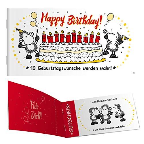 Sheepworld - 45305 - Gutscheinheft, Geburtstag, Happy Birthday, 10 Gutscheine