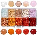 Miystn Miystn Mostacilla, Crystal Beads, Cuentas para Hacer Pulseras, Cuentas de Cristal Facetado para Collar Pulsera Manualidades Bricolaje, Cuentas Cristal Facetado (1000 Piezas, 10 Colores)