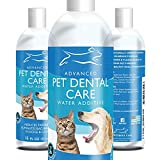 Emmy's Best Premium Dog and Cat Breath Freshener Advanced Pet Dental Care Water Additive - No Brushing Removal of Plaque, Tartar and Bad Breath