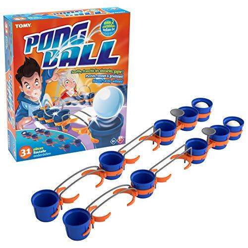 Pong Ball 2, das hochwertige Aktions- und Geschicklichkeitsspiel von TOMY zur Förderung der Motorik und Präzision liefert stundenlangen Spielspaß für Jung und Alt. Ab 6 Jahren