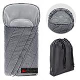 Zamboo Saco Silla Paseo Universal Invierno Thinsulate 3M - Sacos de abrigo para carritos con protección antideslizante, forro polar térmico, capucha tipo momia y bolsa | Gris