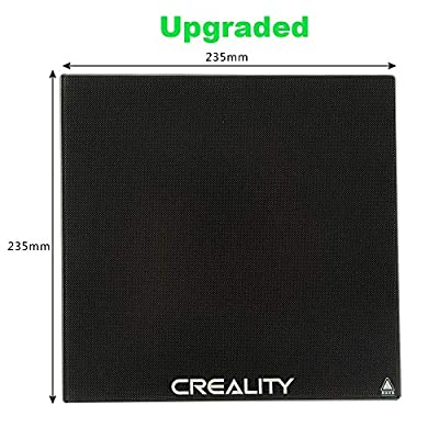 Creality Ender 3 Glass Bed, Upgraded 3D Printer Platform Tempered Glass Plate Build Surface, 235x235x4mm