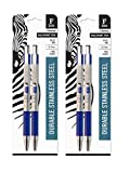Zebra's F-301 Stainless Steel Retractable Ballpoint Pen...