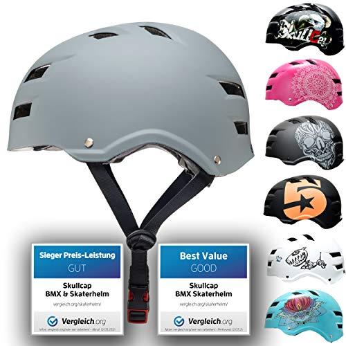 Skullcap® Skaterhelm Erwachsene Grau Just Gray - Fahrradhelm Herren ab 14 Jahre Größe L (58-61 cm) - Scoot and Ride Helmet Adult Grey - Skater Helm für BMX Inliner Fahrrad Skateboard