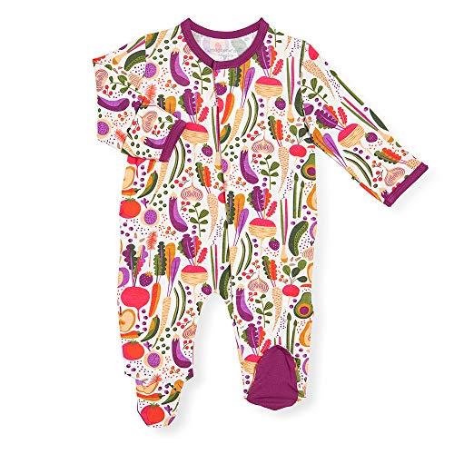 Magnetic Me Footie Pajamas Soft Modal Baby Sleepwear Quick Magnetic Fastener Ruffle Back Sleeper Home Grown 0-3 Months