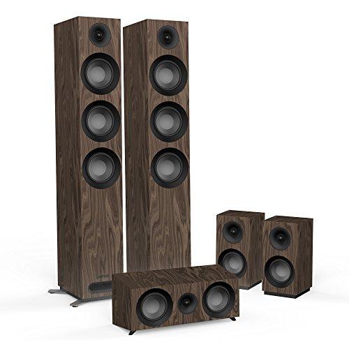 Jamo S 809 HCS N 5.0Kanäle Schwarz, Walnuss Lautsprecherset - Lautsprechersets (5.0 Kanäle, Heimkino, Schwarz, Walnuss, AC)