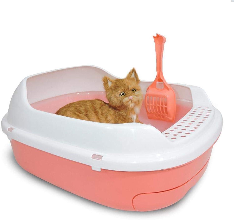 Axiba Pet toilet Cat litter basin half closed cat toilet double cat Poo basin cat Supplies