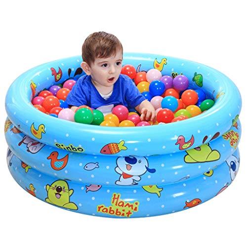 NXYJD Tres Capas de los niños de la bañera Inflable, Color Azul Inflable Bañera de plástico Plegable portátil bañera SPA Bañera Inicio bañera Inflable