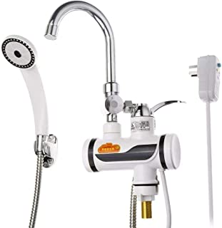 DSFGHE LED Display Hot and Cold Mixer Tap Faucet Instant Electric Water Heater Fast Smooth and Refined Heating Faucet Kitchen Friendly Design,B-SideWater