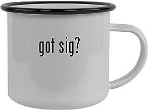 got sig? - Stainless Steel 12oz Camping Mug, Black