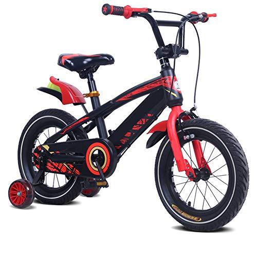 LFFME Bicicleta Infantil 12-18'para Niñas Y Niños De 3 A 12 Años con Ruedas De Entrenamiento, Guardabarros Y Frenos De Mano,C,18