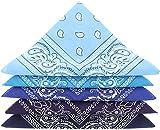 ...KARL LOVEN Bandane 100% cotone per donna uomo Bambini fazzoletto da collo bandana originale motivo paisley copricapo sciarpa per capelli collo polso testa cravatta motociclista