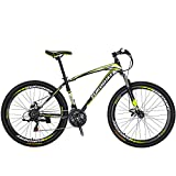 "Eurobike OBK X1 27.5"" Mountain Bike Daul Disc Brakes 21 Speed Mens Bicycle Front Suspension MTB..."
