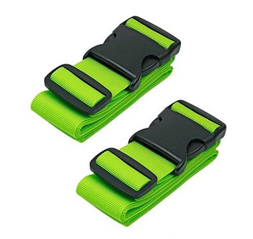 Gepäck Riemen Koffer Gurte Reise Zubehör, 2er Pack, grün