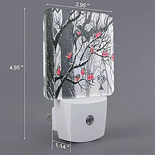 Houten bal op boom schakelt LED-nachtlamp-US_wit automatisch aan/uit.