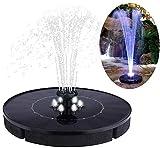 Elikliv Solar Fountain Pump Garden Water Pump Powered Floating Fountain for Birdbaths or