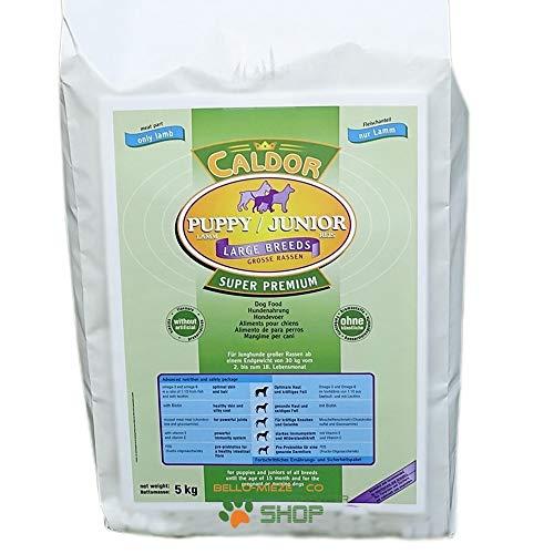 Caldor Puppy + Junior Large Lamm & Reis für große Rassen ab 30 kg Endgewicht | 15 kg Sack | Hunde Trockenfutter